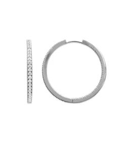 Boucles d'oreilles Anaïs en argent 925 rhodié serti de brillants Aimée Private Collection nouveau modèle influenceuse