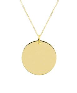 Collier Lucie en plaqué or Aimée Private Collection bijou pendentif médaillon