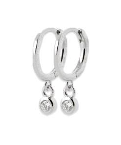 Mini créoles boucles d'oreille soleil diamant bijoux paris