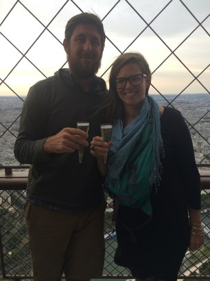Celebrating my 29th birthday on top of the Eiffel Tower