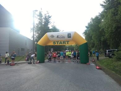 The start line of the 2017 Anchorage Mayor's Midnight Sun Marathon