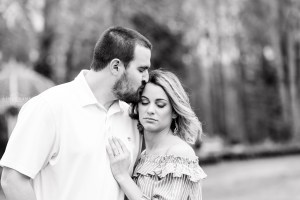 black and white engagement session at trypheans garden wedding venue