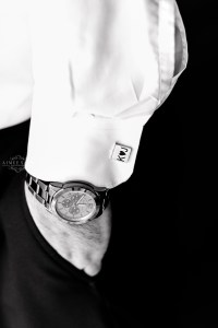 Middle Georgia Wedding, Plantation Farms wedding, bride and groom, wedding day, farm wedding, garden wedding, black and white of groom's shirt and watch