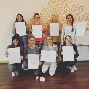 Yoga Doodle Workshop in Newquay by Aimee Stapleford Illustration & Synergy Yoga