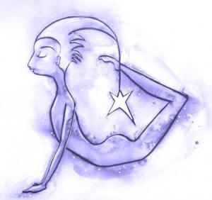 Hand Drawn Yoga Illustration by Aimee Stapleford Cornwall Illustrator