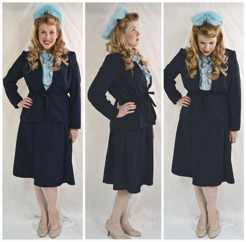 1940's suit collage