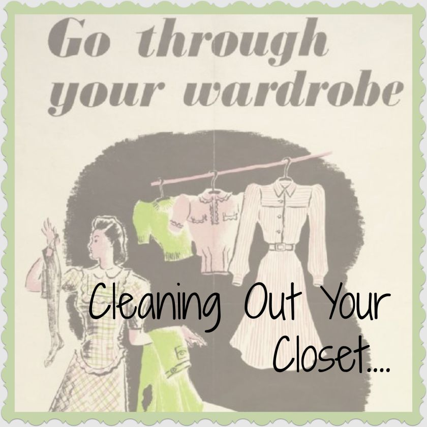 Cleaning Out Your Closet tutorial