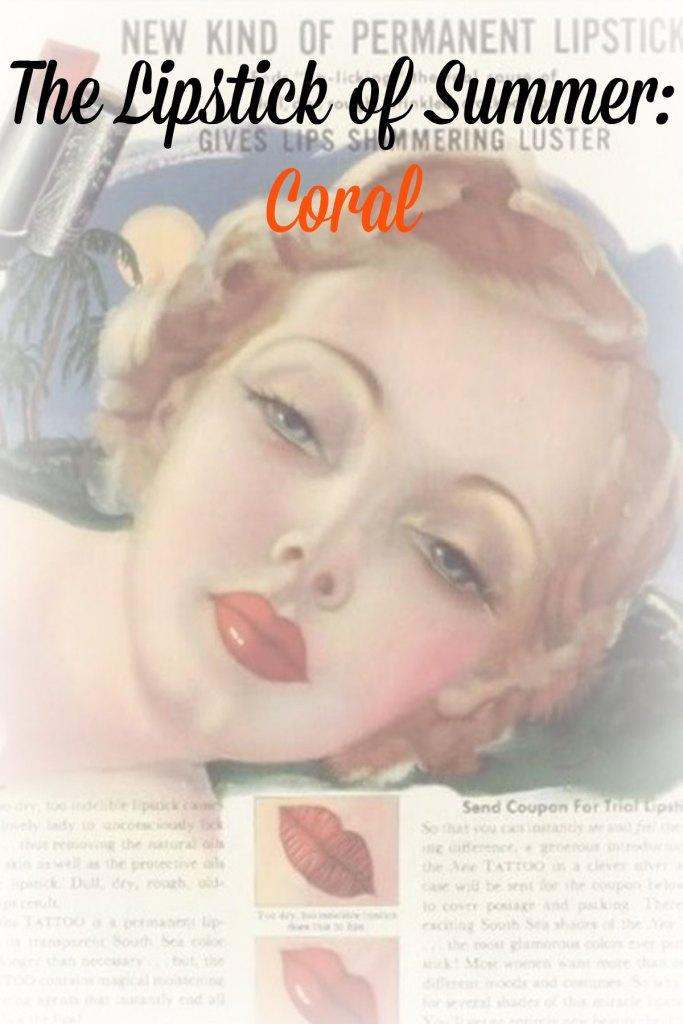 coral lipstick