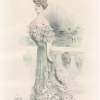 Evening Fashions for the Spring Months: 1900 Harpers Bazaar