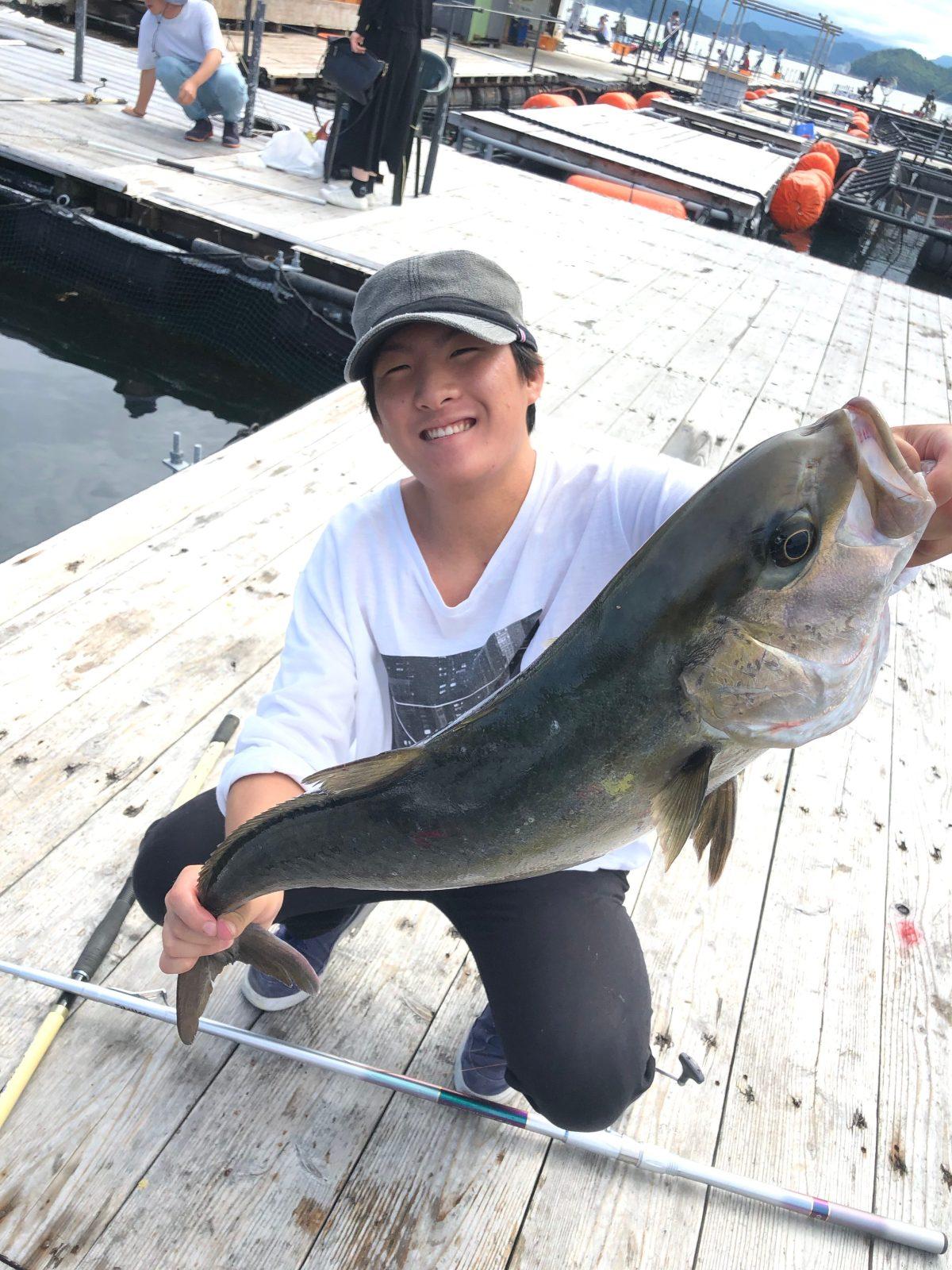 大前くんはじめての大物を釣りました
