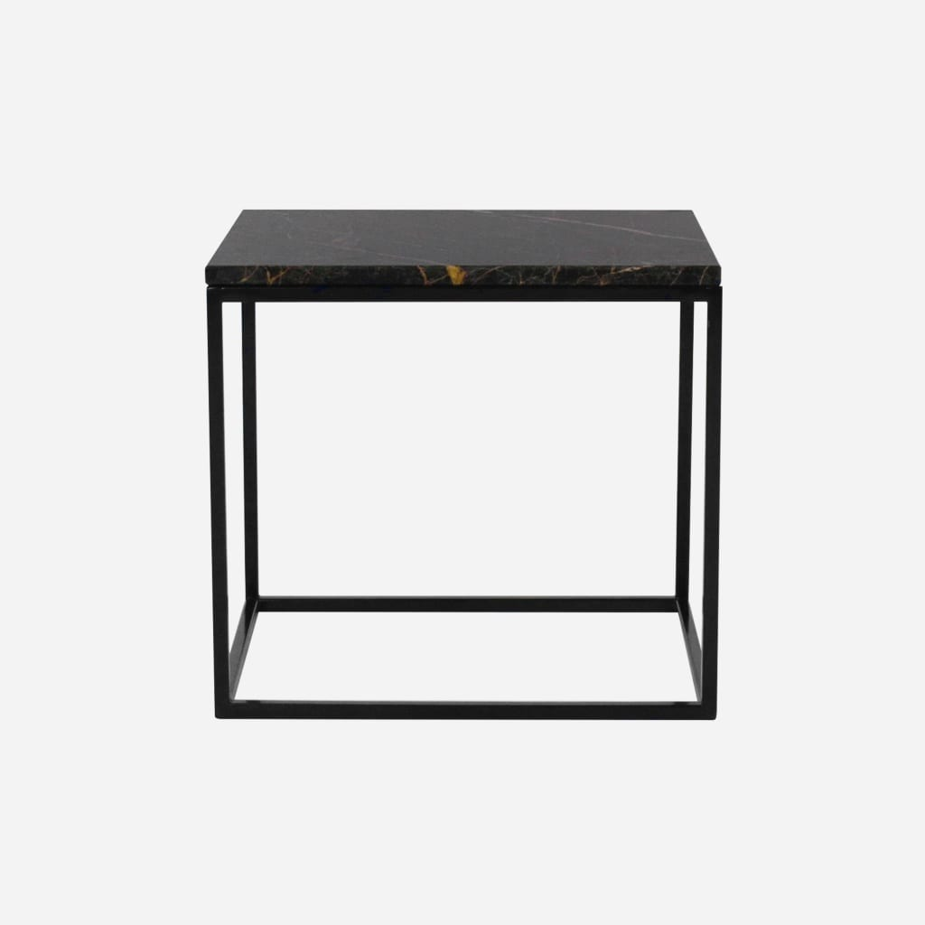 marble side table black and gold