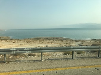 View of Dead Sea and Jordan mountain