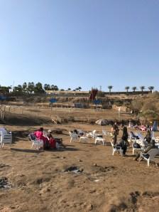 Kalya Beach at Dead Sea old dock, from receding water