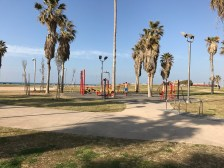 Outdoor gym on the beach