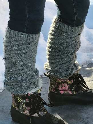 Leg Warmers with boots and skinny jeans