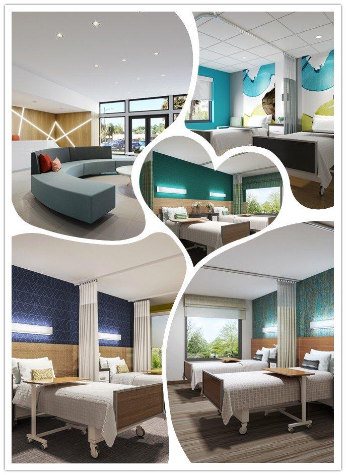 Patient Room Design: 3D Photorealistic Renderings: Patient Room Design