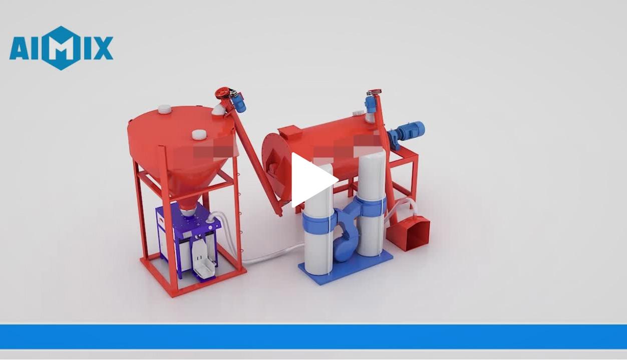 Simple Semi-Automatic Dry Mortar Plant