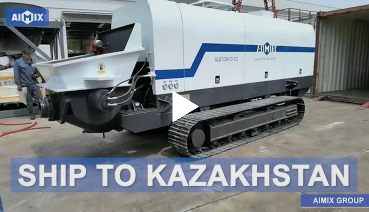 ALBTC80 crawler concrete pump shipping to Kazakhstan
