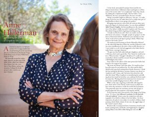 Portfolio: Anne Hillerman discusses continuing Tony Hillerman's legacy through the Leaphorn, Chee and Manuality series.