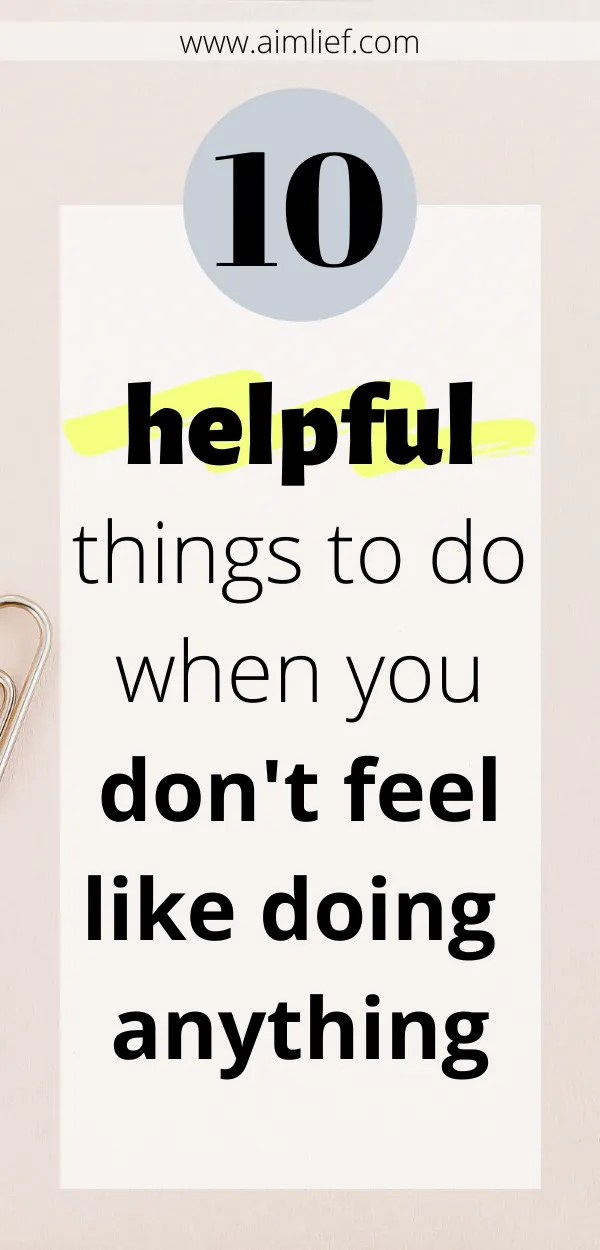 helpful things to do