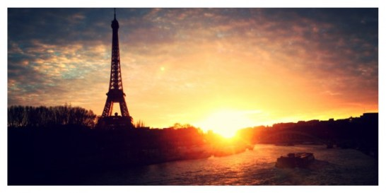 Tour Eiffel, Eiffel Tower, Sunset, Seine river