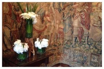 Château de Chenonceau, Chenonceau, France, Castle, Loire Valley, Flower arranging, Floral Design, calla