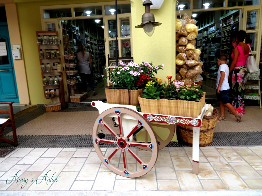 Flower cart in Zakynthos Town