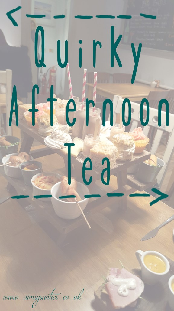 Quirky afternoon tea title picture