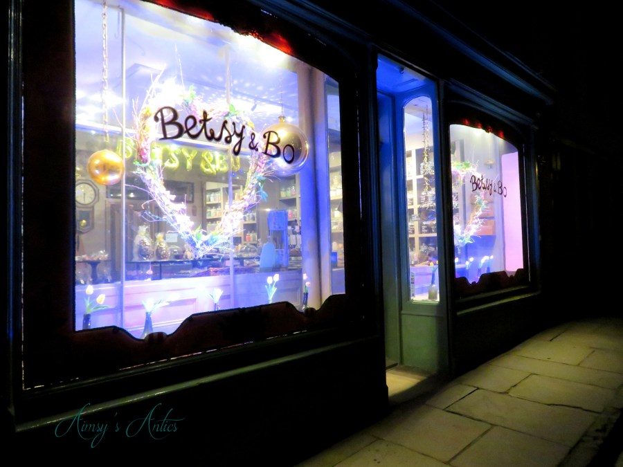 Night view Staithe's Highstreet with Betsy and Bo shop