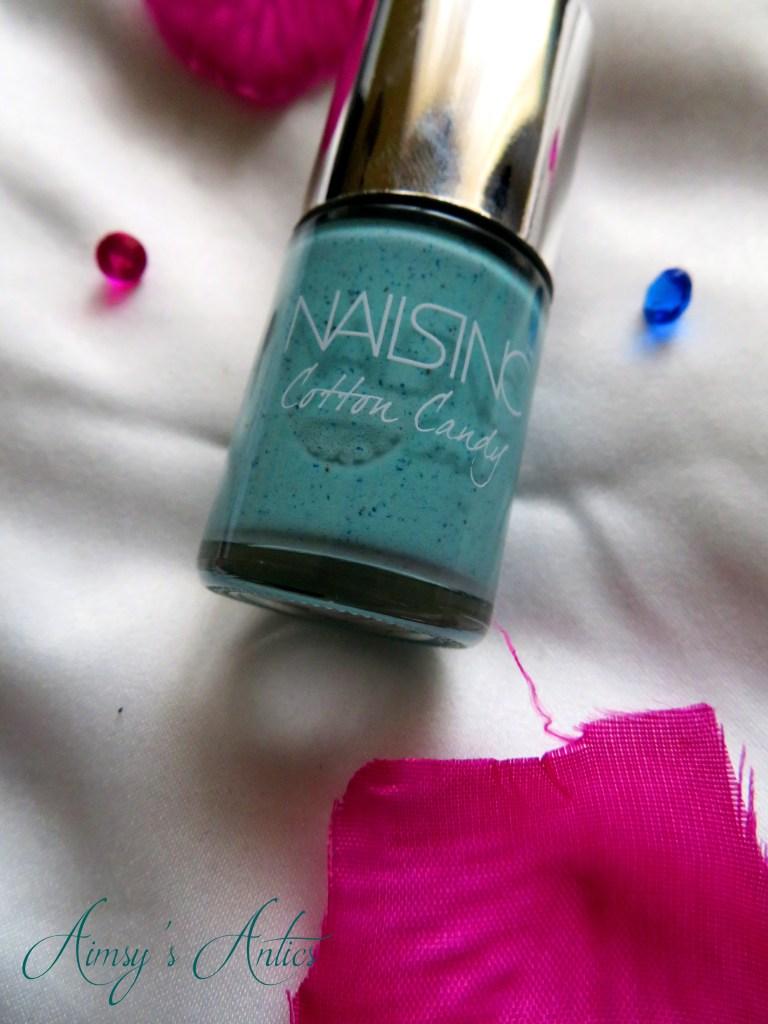 NailsInc nail varnish - turquoise colour