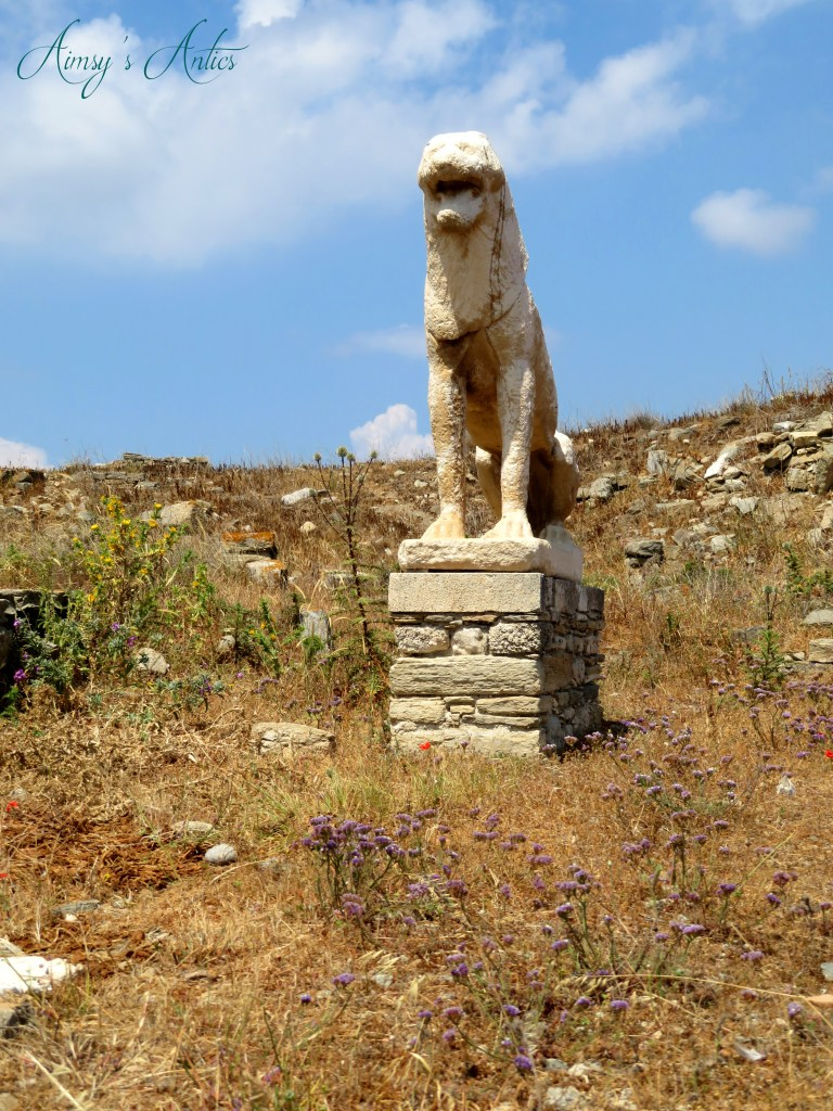Image of a Lion statue on the island of Delos