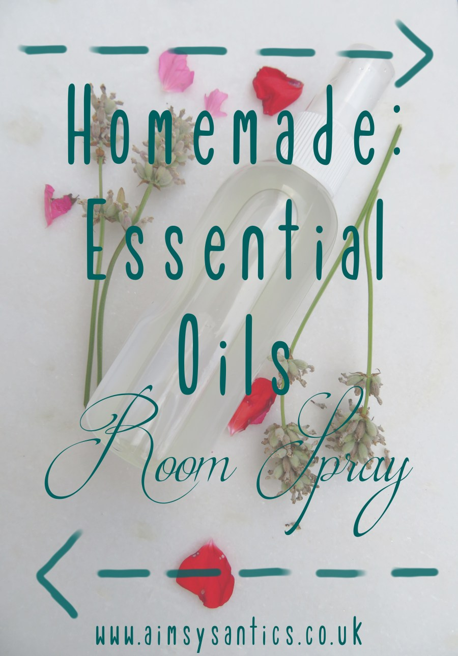 Homemade: essential oils room spray blog post tile image,
