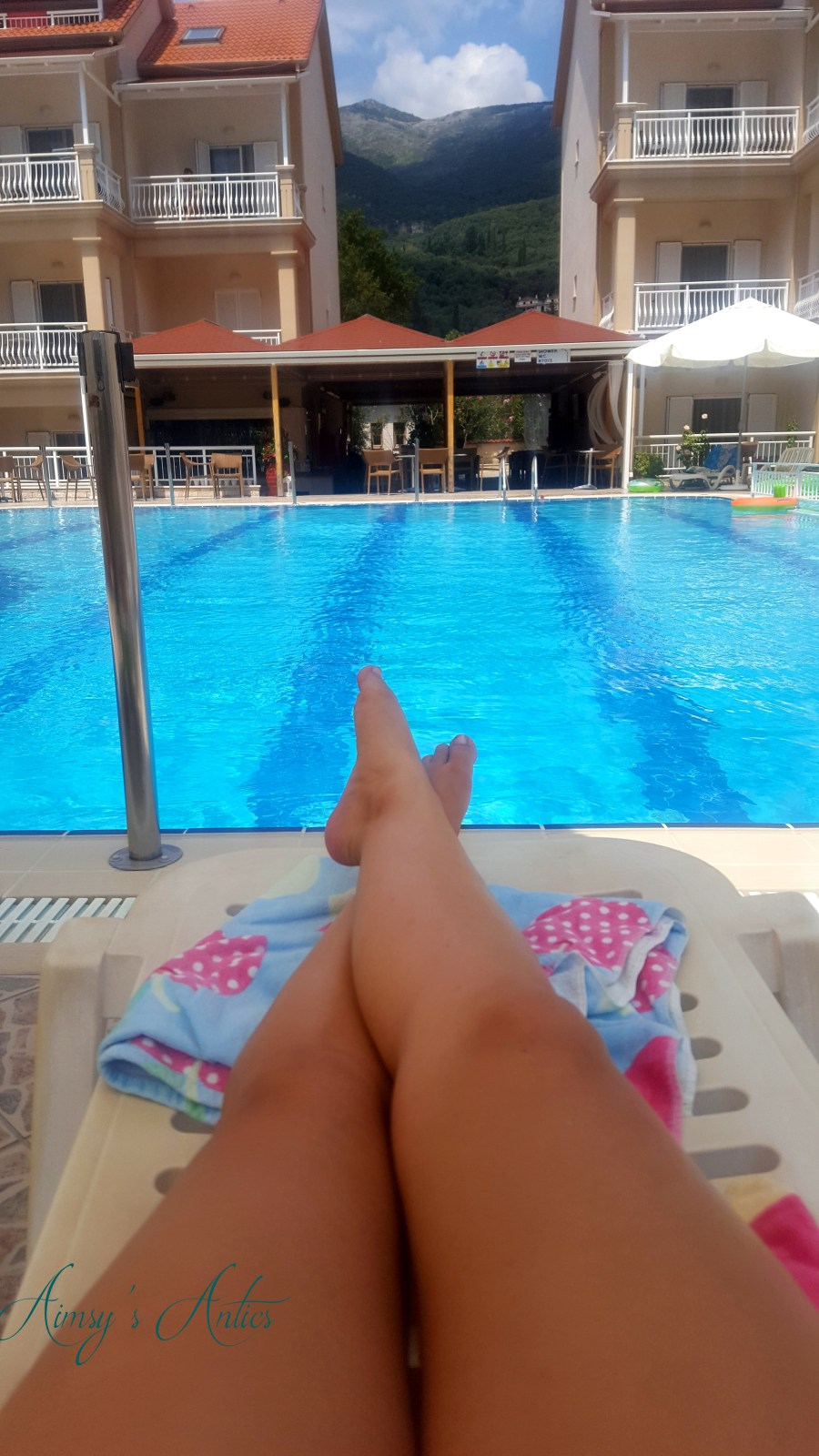 Eleana pool view from a sunbed