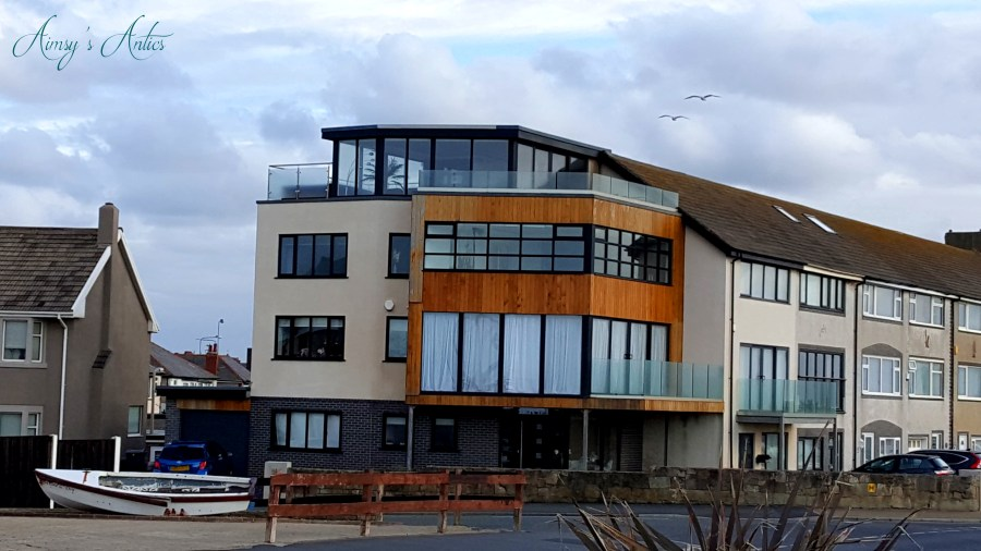 Image of the high-end beachside house in Cleveleys, taken from the beachside
