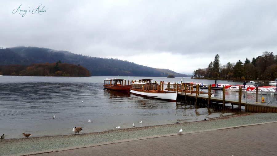 Boats and Jetty on Lake Windermere, Lake District