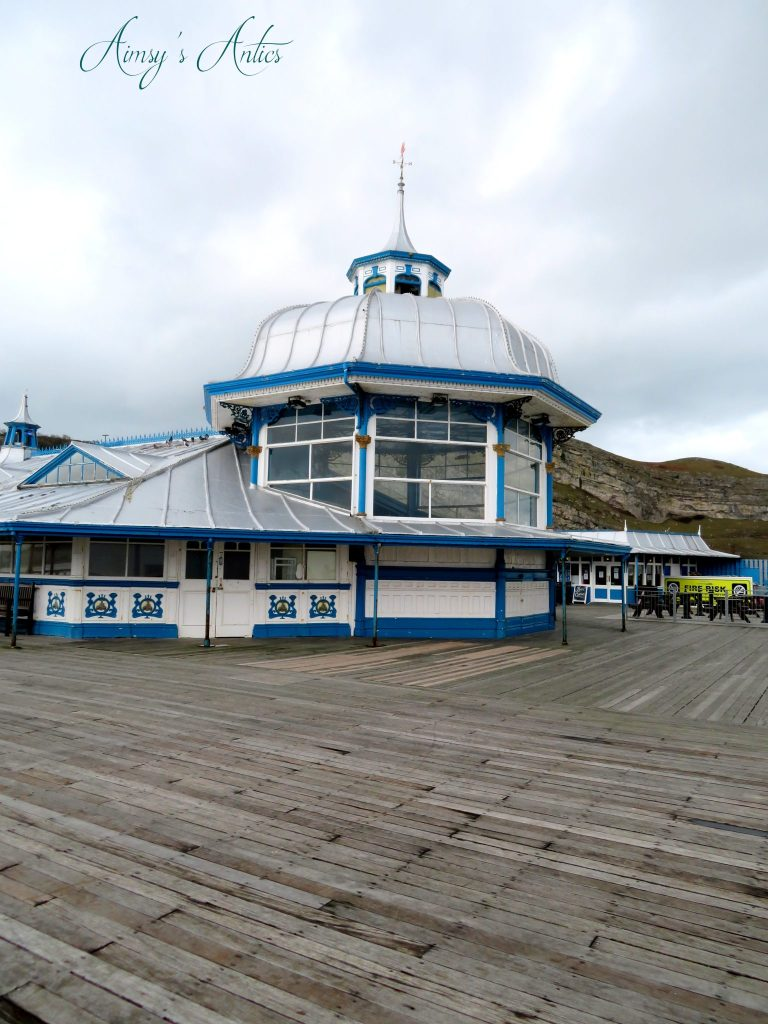 Llandudno pier building with domed roof