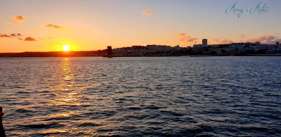 Sunset in Lisbon, view from the Lisbon Boat Party