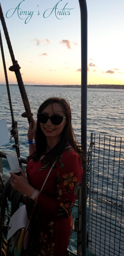Woman stoof on the boat at Lisbon Boat Party