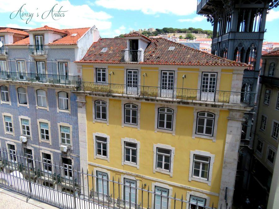 View of the street below Elevadar Santa Justa lift