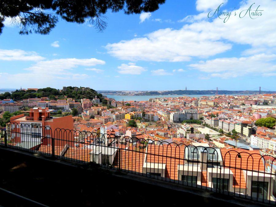 View of Lisbon from Miradouro da Nossa Senhora do Monte