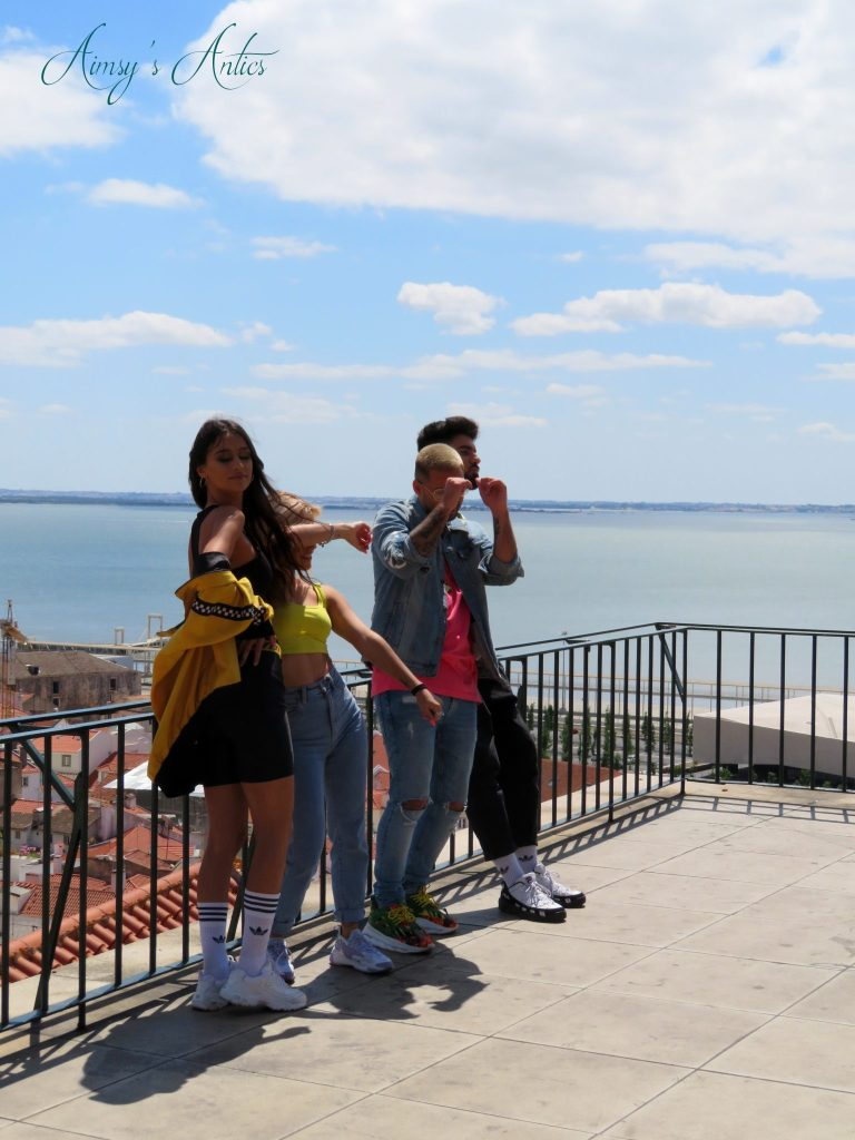 Tydiaz filiming the music video for 'Vale' on Miradouro das Portas do Sol Viewpoint