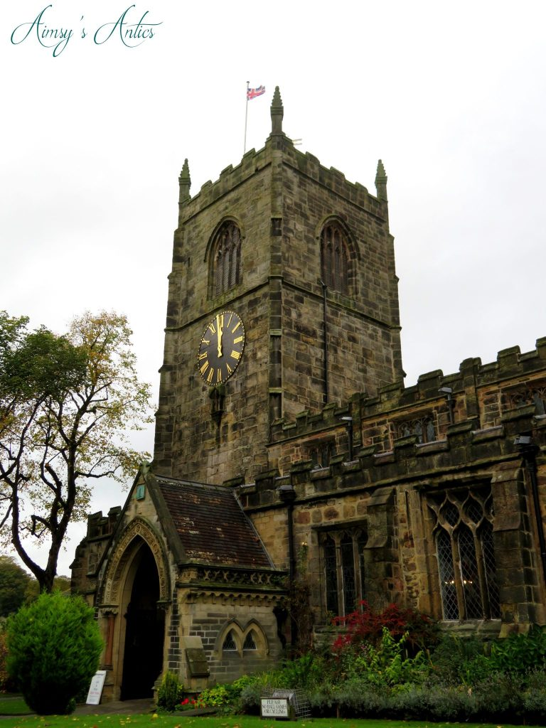 View of outside of the church in Skipton town centre.