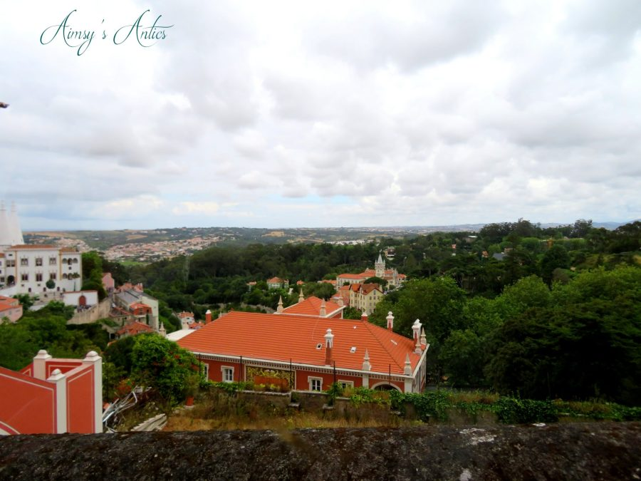 View of Sintra from the sightseeing tour bus
