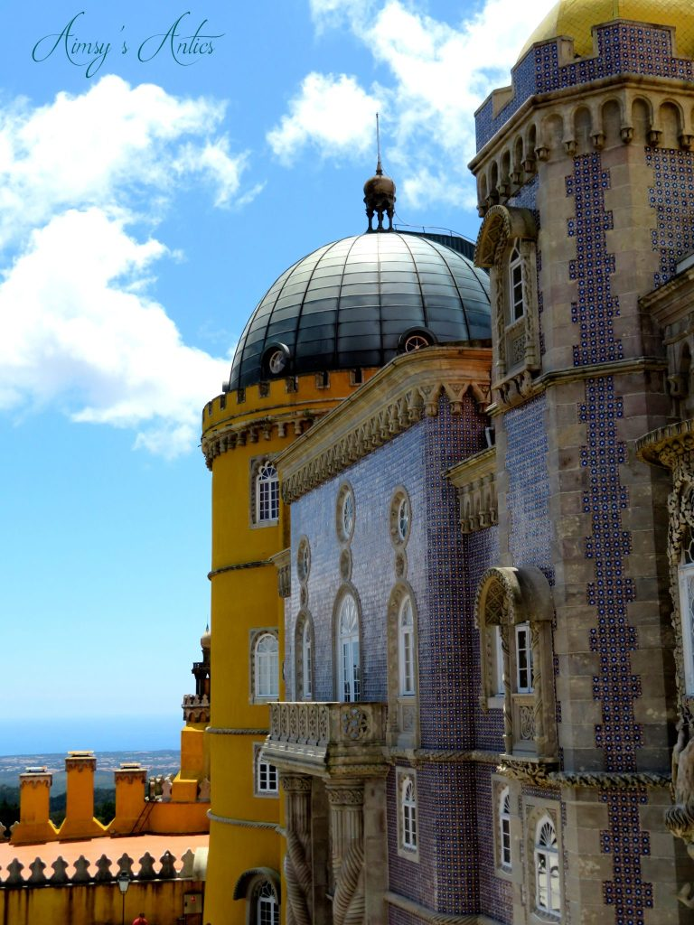Side view of Pena Palace, Sintra