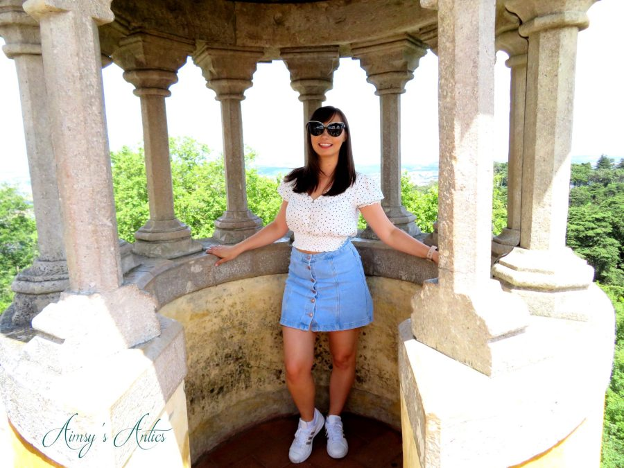 Woman stood in an alcove at Pena Palace, Sinta