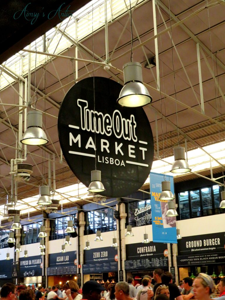 Time Out Market inside with large sign
