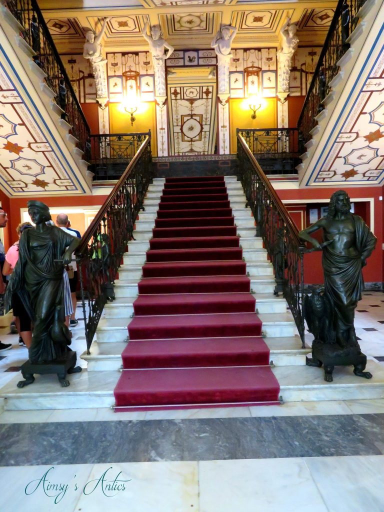 Grad staircase in Achilleion Palace