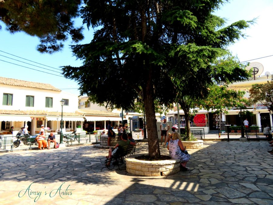 The square of Kassiopi in Corfu