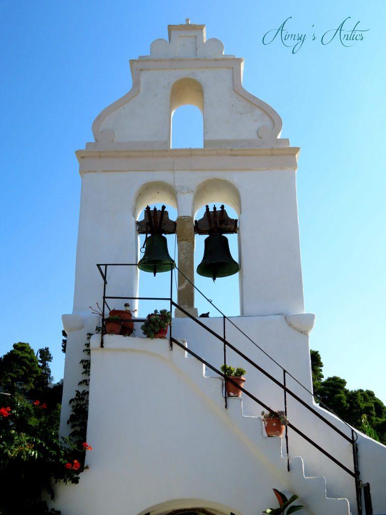 Bell tower of Vlacherna Monastery