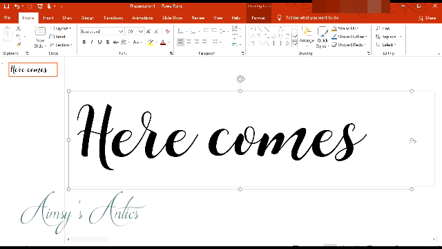 Making the 'Here comes' paper sign for the advent calendar